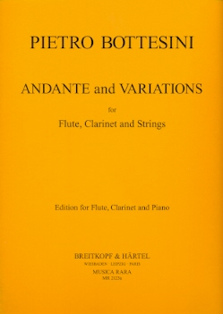 andante & variations for flute clarinet and strings